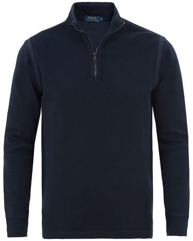 Polo Ralph Lauren Texture Half Zip Cruise Navy i gruppen Tröjor / Zip-tröjor hos Care of Carl (13487411r)
