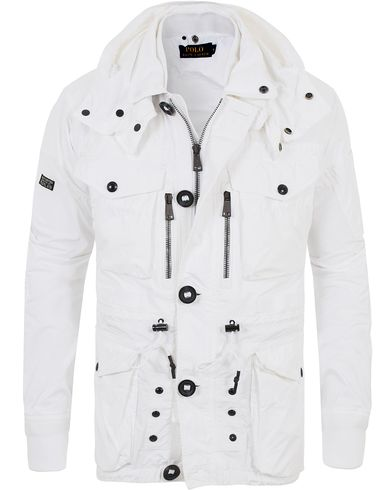 Polo Ralph Lauren Field Hooded Jacket White i gruppen Kläder / Jackor / Fieldjackor hos Care of Carl (13487611r)