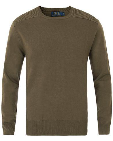 Polo Ralph Lauren Merino Details Crew Neck Olive i gruppen Kläder / Tröjor / Pullovers / Rundhalsade pullovers hos Care of Carl (13487711r)