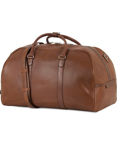 Tiger of Sweden Pinchon Leather Weekend Bag Brown  i gruppen Assesoarer / Vesker / Weekendbager hos Care of Carl (13489910)
