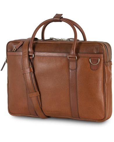 Tiger of Sweden Printel Leather Briefcase Brown  i gruppen Accessoarer hos Care of Carl (13490210)