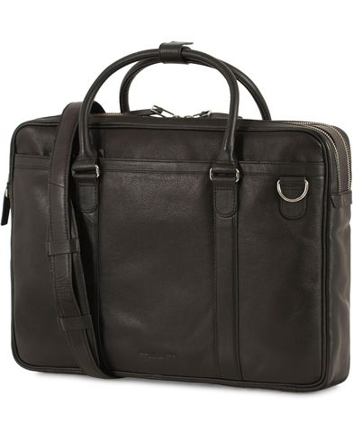 Tiger of Sweden Printel Leather Briefcase Black  i gruppen Väskor / Portföljer hos Care of Carl (13490310)