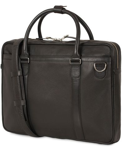 Tiger of Sweden Marquet Leather Briefcase Black  i gruppen Accessoarer / Väskor / Portföljer hos Care of Carl (13490510)