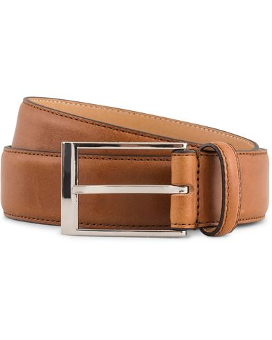 Tiger of Sweden Helmi Leather 3,5 cm Belt Light Brown i gruppen Accessoarer / Bälten / Släta bälten hos Care of Carl (13492011r)
