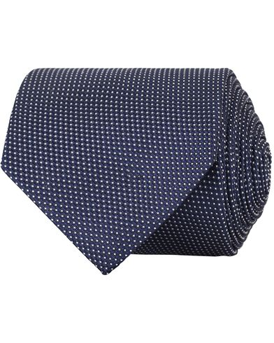 Eton Silk 8 cm Tie Blue  i gruppen Accessoarer / Slipsar hos Care of Carl (13495510)