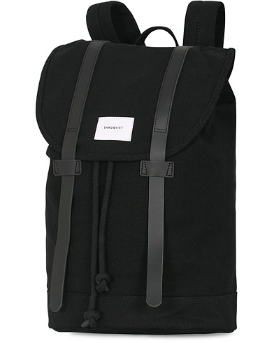Sandqvist Stig Canvas Backpack Black  i gruppen Accessoarer / Väskor / Ryggsäckar hos Care of Carl (13496310)