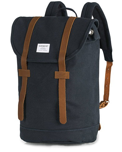 Sandqvist Stig Canvas Backpack Blue  i gruppen Assesoarer / Vesker / Ryggsekker hos Care of Carl (13496410)