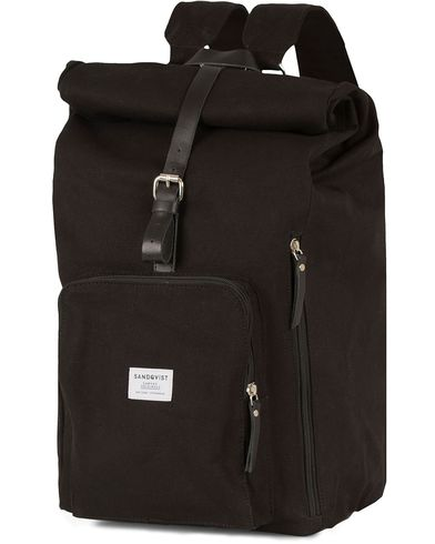 Sandqvist Jerry Canvas Rolltop Backpack  Black  i gruppen Väskor / Ryggsäckar hos Care of Carl (13496910)