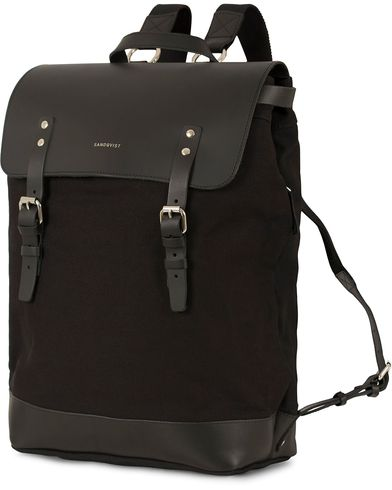 Sandqvist Hege Canvas Backpack Black  i gruppen Väskor / Ryggsäckar hos Care of Carl (13497010)
