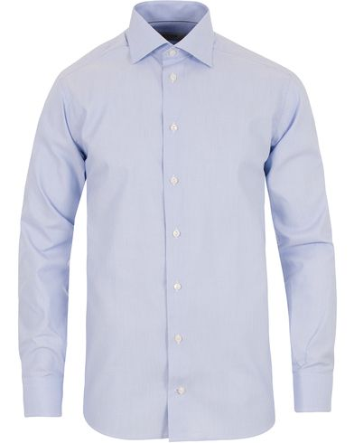 Eton Slim Fit Cut Away Micro Print Shirt Blue i gruppen Skjortor / Formella skjortor hos Care of Carl (13497211r)