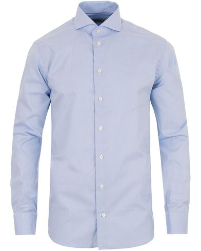 Eton Super Slim Fit Cut Away Micro Print Shirt Blue i gruppen Kläder / Skjortor / Formella skjortor hos Care of Carl (13497711r)