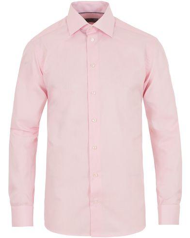 Eton Slim Fit Cut Away Micro Print Shirt Pink/Red i gruppen Skjortor / Formella skjortor hos Care of Carl (13497811r)