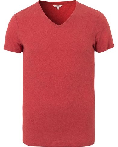 Orlebar Brown OB V-Neck Tee Pomodoro Melange i gruppen T-Shirts / Kortärmade t-shirts hos Care of Carl (13500411r)