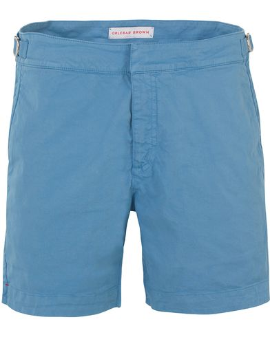 Orlebar Brown Bulldog Cotton/Twill Shorts Blue Stone i gruppen Shorts / Chinosshorts hos Care of Carl (13500611r)