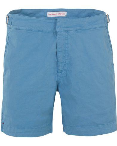 Orlebar Brown Bulldog Cotton/Twill Shorts Blue Stone i gruppen Kläder / Shorts / Chinosshorts hos Care of Carl (13500611r)