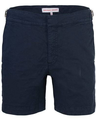 Orlebar Brown Bulldog Cotton/Twill Shorts Navy i gruppen Shorts / Chinosshorts hos Care of Carl (13500711r)