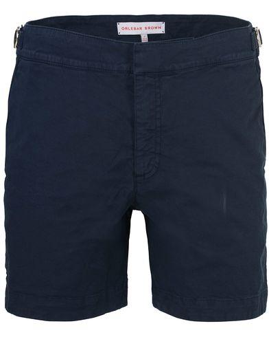 Orlebar Brown Bulldog Cotton/Twill Shorts Navy i gruppen Kläder / Shorts / Chinosshorts hos Care of Carl (13500711r)