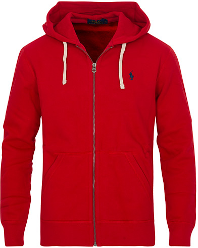 Polo Ralph Lauren Full Zip Hoodie Red i gruppen Tröjor / Huvtröjor hos Care of Carl (13501311r)