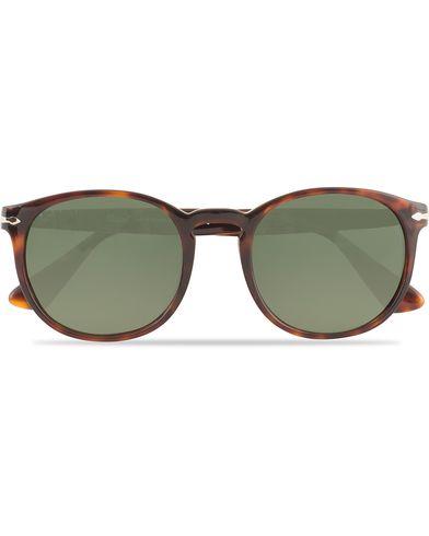 Persol 0PO3157S Round Sunglasses Havana  i gruppen Solglasögon / D-formade solglasögon hos Care of Carl (13505110)