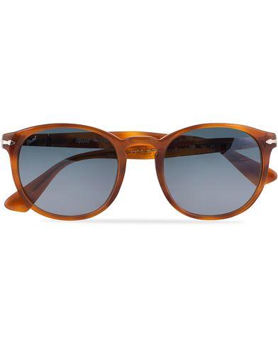 Persol 0PO3157S Round Sunglasses Terra Di Siena  i gruppen Accessoarer / Solglasögon / Runda solglasögon hos Care of Carl (13505310)
