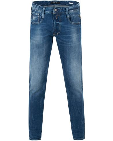 Replay M914 Anbass Jeans Dark Blue i gruppen Kläder / Jeans / Avsmalnande jeans hos Care of Carl (13506211r)