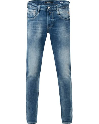 Replay M914 Anbass Jeans Light Blue i gruppen Jeans / Avsmalnande jeans hos Care of Carl (13506411r)