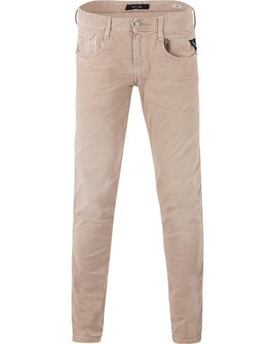 Replay M914 Anbass Jeans Washed Beige i gruppen Jeans / Avsmalnande jeans hos Care of Carl (13507011r)