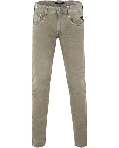 Replay M914 Anbass Jeans Washed Green i gruppen Jeans / Avsmalnande jeans hos Care of Carl (13507211r)