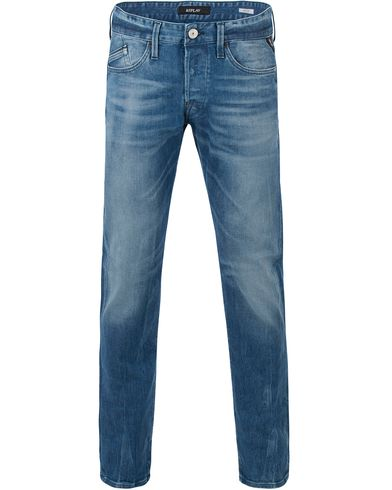 Replay M983 Waitom Jeans Medium Blue i gruppen Kläder / Jeans / Raka jeans hos Care of Carl (13507611r)
