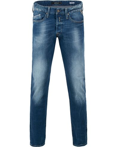 Replay M983 Waitom Jeans Dark Blue i gruppen Kläder / Jeans / Raka jeans hos Care of Carl (13507811r)