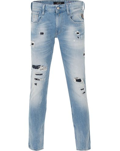 Replay M914 Anbass Jeans Light Blue i gruppen Kläder / Jeans / Avsmalnande jeans hos Care of Carl (13509511r)
