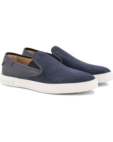 Tod's Pantofola Cassetta Sneaker Navy Suede i gruppen Skor / Sneakers / Slip-on sneakers hos Care of Carl (13510711r)