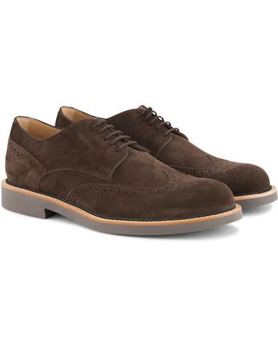 Tod's Bucatura Derby Dark Brown Suede i gruppen Skor / Derbys hos Care of Carl (13510911r)