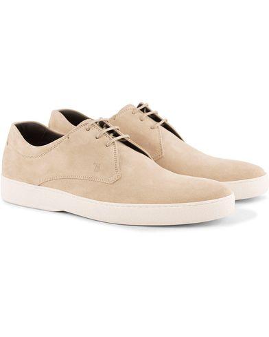 Tod's Derby Sneaker Sand Suede i gruppen Skor / Sneakers / Låga sneakers hos Care of Carl (13511011r)
