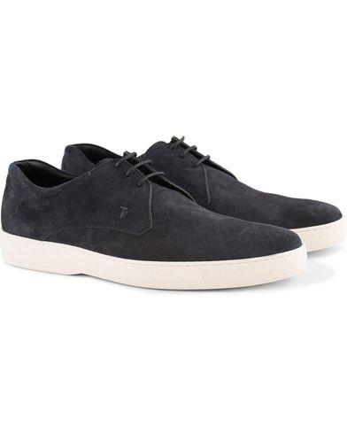 Tod's Derby Sneaker Dark Navy Suede i gruppen Skor / Sneakers / Låga sneakers hos Care of Carl (13511111r)