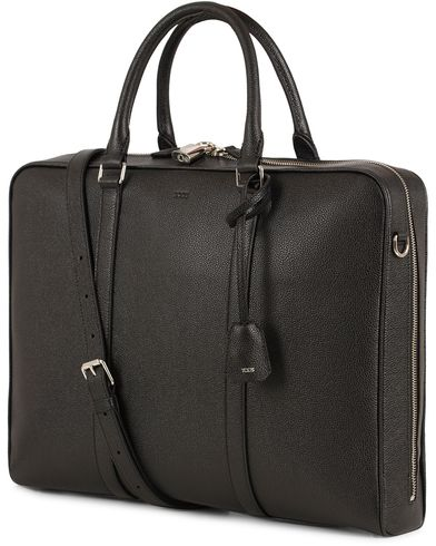 Tod's Slim Business Leather Briefcase Grained Black  i gruppen Accessoarer / Väskor / Portföljer hos Care of Carl (13511410)