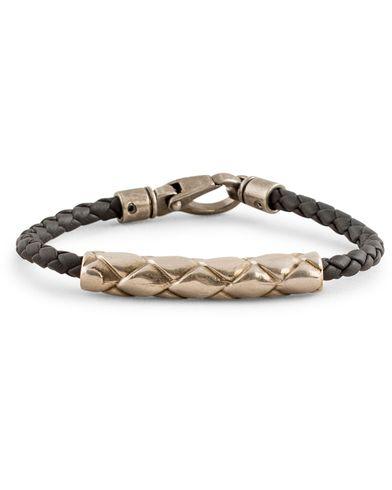 Tod's Metallo Intreccio Bracelet Grained Black  i gruppen Design A / Accessoarer / Armband hos Care of Carl (13511910)