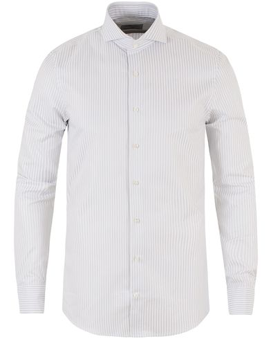 Stenströms Slimline Striped Shirt Light Grey i gruppen Skjortor / Formella skjortor hos Care of Carl (13512111r)