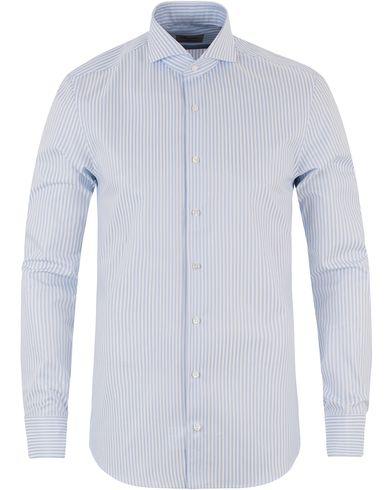 Stenströms Slimline Striped Shirt Light Blue i gruppen Kläder / Skjortor / Formella skjortor hos Care of Carl (13512211r)