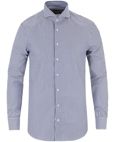 Stenströms Slimline Striped Shirt Dark Blue i gruppen Skjortor / Formella skjortor hos Care of Carl (13512311r)