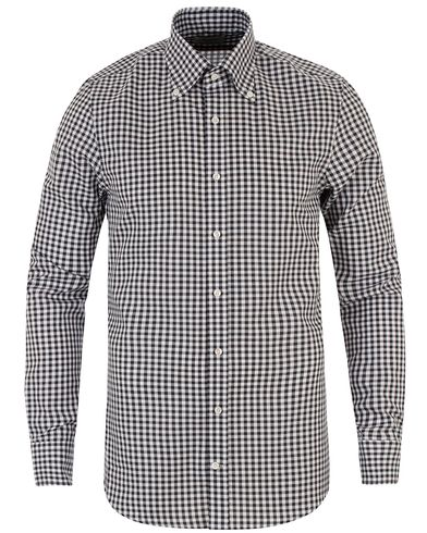Stenströms Slimline Check Shirt Black/White i gruppen Design A / Skjortor / Casual skjortor hos Care of Carl (13512411r)