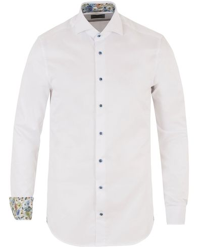 Stenströms Slimline Contrast Flower Shirt White i gruppen Skjortor / Formella skjortor hos Care of Carl (13512511r)
