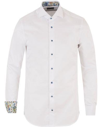 Stenströms Slimline Contrast Flower Shirt White i gruppen Kläder / Skjortor / Formella skjortor hos Care of Carl (13512511r)
