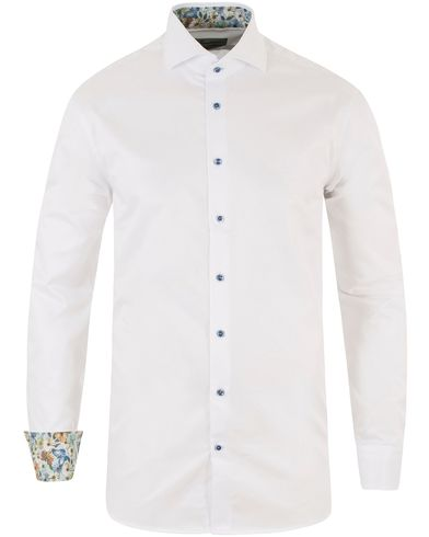 Stenströms Fitted Body Contrast Shirt White i gruppen Skjortor / Formella skjortor hos Care of Carl (13512611r)