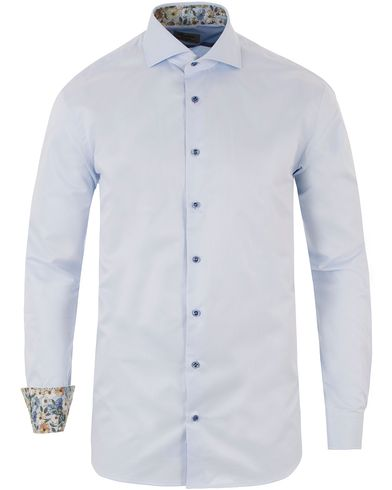 Stenströms Fitted Body Contrast Shirt Light Blue i gruppen Skjortor / Formella skjortor hos Care of Carl (13512711r)