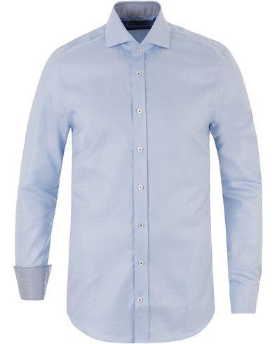 Stenströms Slimline Pepita Contrast Shirt Light Blue i gruppen Kläder / Skjortor / Formella skjortor hos Care of Carl (13512811r)