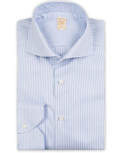 Stenströms 1899 Slim Supima Cotton Striped Shirt White/blue i gruppen Kläder / Skjortor / Formella skjortor hos Care of Carl (13512911r)