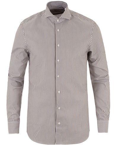 Stenströms Slimline Striped Shirt Brown i gruppen Kläder / Skjortor / Formella skjortor hos Care of Carl (13513311r)