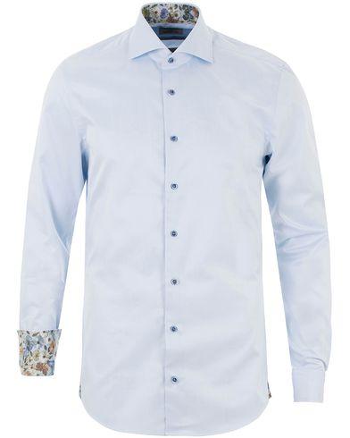 Stenströms Slimline Contrast Flower Shirt Light Blue i gruppen Skjortor / Formella skjortor hos Care of Carl (13513411r)