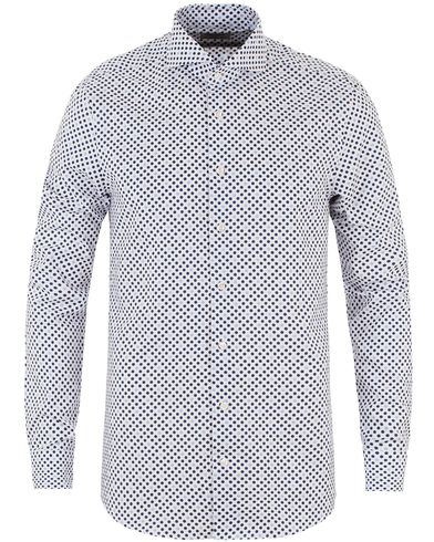 Stenströms Slimline Printed Dot Shirt White i gruppen Design A / Skjortor / Casual skjortor hos Care of Carl (13513511r)